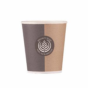 HUHTAMAKI Gobelet en carton Specialty pour boissons chaudes ou froides, 15 cl colis de 100