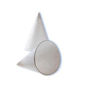 HUHTAMAKI Gobelet cône jetable pour boisson chaude ou froide - 12 cl en papier recyclable - Blanc - Lot de 200