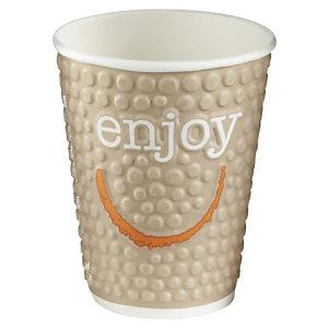 HUHTAMAKI Gobelets boisson chaude / froide en carton recyclable Enjoy de 250ml, couleurs assorties, lot de 30