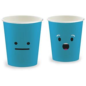 HUHTAMAKI Gobelets jetables Emoticons pour distributeurs automatiques SP6, pour boissons chaudes, 15 cl en carton, 6 coloris assortis