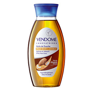 Huile de douche Vendome à l'huile d'Amande douce, flacon de 250 ml