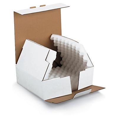 Hvid kasse med støddæmpning - RAJAMOUSSE