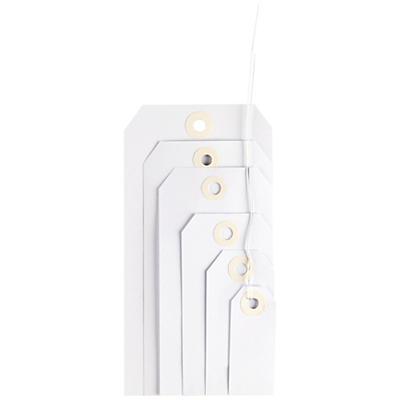 Hvide manillamærker med metaltråd