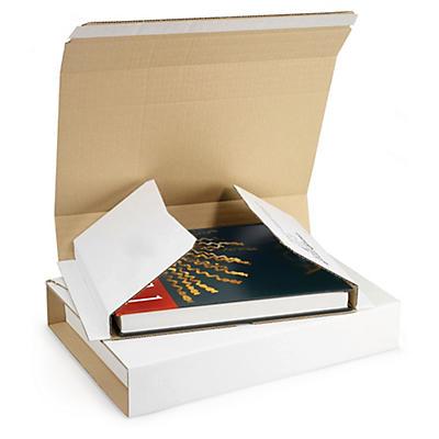 Hvide omslag til bøger med selvklæbende lukning - Rajabook