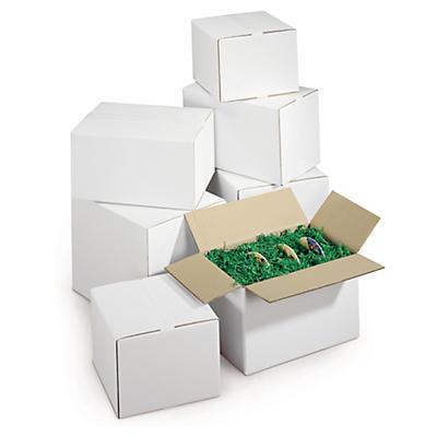 Hvide papkasser i dobbelt bølgepap, RAJABOX