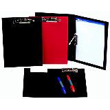 iberplas Carpeta con pinza portapapeles Folio de cartón rígido forrado en PVC negro
