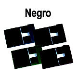 iberplas Carpeta de gomas Folio en PVC negro