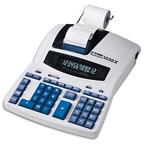 IBICO Calculatrice imprimante de bureau professionnelle 12 chiffres 1232X IB404108