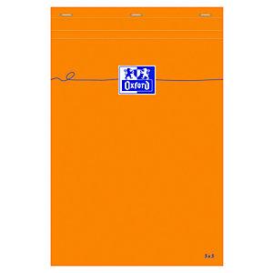 Idea Bloc de bureau agrafé 80 feuilles A4 (21 x 29,7 cm), 80 g petits carreaux 5X5 , couverture orange