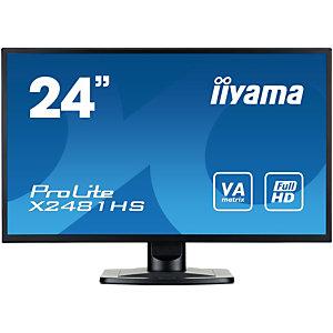 """iiyama ProLite X2481HS-B1, 59,9 cm (23.6""""), 1920 x 1080 pixels, Full HD, LED, 6 ms, Noir"""