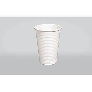 ILIP Bicchiere monouso in PP Linea Soleil, Riciclabile, Per bevande calde e fredde, Capacità 230 ml, Bianco (confezione 100 pezzi)