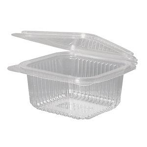 ILIP Contenitore gastronomia in PLA Linea IlipBio, Compostabile, 13,5 x 12,5 x 5,6 cm, Capacità 500 ml, Trasparente (confezione 600 pezzi)