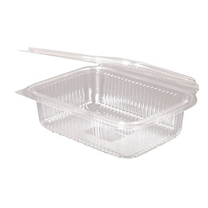 ILIP Contenitore gastronomia in PLA Linea IlipBio, Compostabile, 18,8 x 14,3 x 5,2 cm, Capacità 750 ml, Trasparente (confezione 400 pezzi)