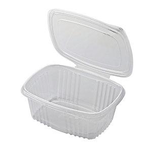 ILIP Contenitore in PP con coperchio incernierato Linea Food2go, Riciclabile, Capacità 1.000 cc, 18,5 x 13,5 x 6 cm, Trasparente (confezione 400 pezzi)