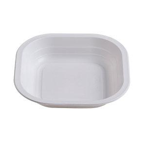 ILIP Piatto fondo quadrato monouso in PP Linea Professional Catering, Termosaldabile, Riciclabile, 18 x 18 x 3,5 cm, 11,5 g, Bianco (Speciale HO.RE.CA confezione 1.200 pezzi)