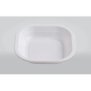 ILIP Piatto fondo quadrato monouso in PP Linea Professional Catering, Termosaldabile, Riciclabile, 18 x 18 x 3,5 cm, 16 g, Bianco (Speciale HO.RE.CA confezione 1.000 pezzi)