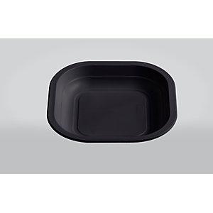 ILIP Piatto piano quadrato monouso in PP Linea Professional Catering, Termosaldabile, Riciclabile, 18 x 18  x 2,5 cm, 11, 5 g, Nero (Speciale HO.RE.CA confezione 1.200 pezzi)