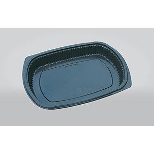 ILIP Vassoio gastronomia monouso in PP Linea Food2Go, Capacità 800 ml, 25,5 x 18,5 x 3,5 cm, Nero (confezione 250 pezzi)