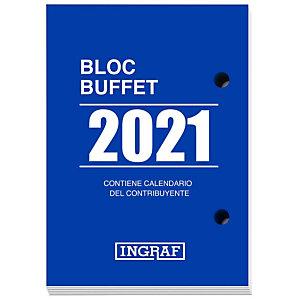 INGRAF Bloque calendario 2021, 82 x 116 mm, castellano