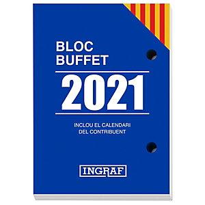 INGRAF Bloque calendario 2021, 82 x 116 mm, català
