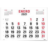 INGRAF Calendario anual de pared 2021, 440 x 320 mm, castellano