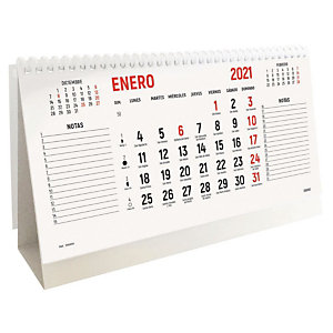 INGRAF Calendario anual de sobremesa 2021, 220 x 130 mm, castellano