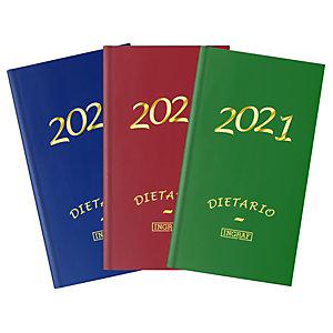 INGRAF Geltex Dietario 2021, 120 x 170 mm, castellano, colores surtidos