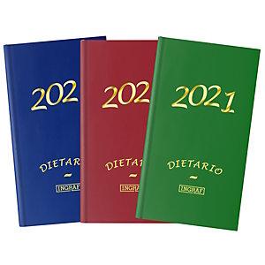 INGRAF Geltex Dietario 2021, 140 x 310 mm, castellano, colores surtidos