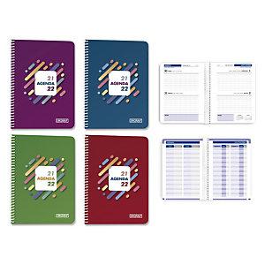 INGRAF Lines Agenda escolar para secundaria, ESO, día-página, 2 días por página, curso 2021-22 tamaño 4º castellano