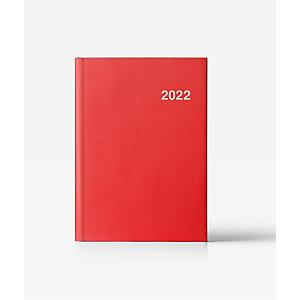 INGRAF Note-París Agenda día-página 2022, 150 x 210 mm, castellano, rojo