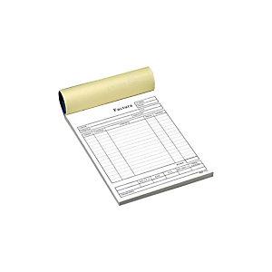 INGRAF Talonario preimpreso en castellano para facturas 148 x 210 mm con copia 50 x 2