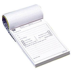 INGRAF Talonario preimpreso en castellano para llamadas telefónicas A6 100 x 145 mm 100 hojas
