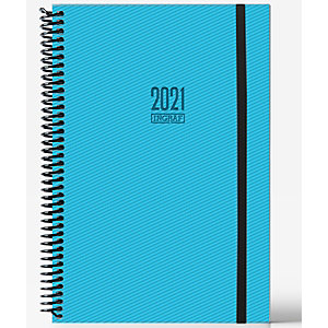 INGRAF Tokio Agenda semana vista 2021, 170 x 240 mm, castellano, azul turquesa
