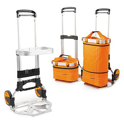 Diable pliable jusqu'à 150 kg avec accessoires##Inklapbare steekwagen tot 150 kg met toebehoren