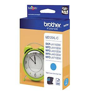 Inktcartridge Brother LC125XLC cyaan voor inkjet printers