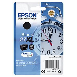 Inktcartridge Epson 27 XL N « Wekker » zwart voor inkjet printers