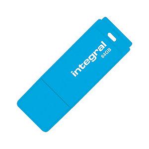 INTEGRAL MEMORY Clé USB 2.0 Neon - 64 Go - bleu