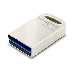 INTEGRAL MEMORY Clé USB Fusion 128 Go 3.0, Argent