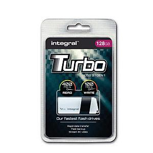 INTEGRAL MEMORY Turbo - Clé USB 3.0 - 128 Go - Blanc