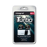 INTEGRAL MEMORY Turbo - Clé USB 3.0 - 64 Go - Blanc