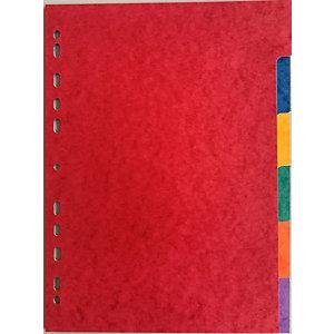 Intercalaires maxi A4+ carte lustrée 175 g/m² - 6 onglets couleur