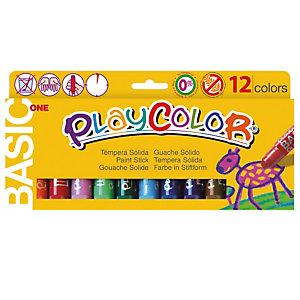 Istant Tempera solida in stick Playcolor - 10gr - colori assortiti - Instant - astuccio 12 stick