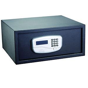 ITERNET Cassaforte di sicurezza - serratura elettronica - 43,2x37x19,5 cm - 10,5 kg - nero - Iternet