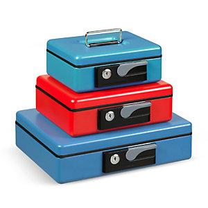 ITERNET Cassetta portavalori Deluxe - 23x18,5x8 cm - rosso - Iternet