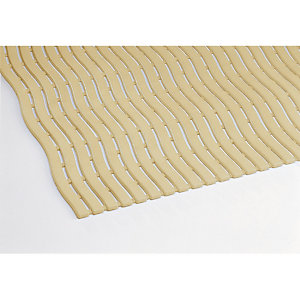 Ivoor roostermat voor vochtige omgeving Soft-Step per lopende meter, breedte 0,60 m