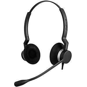Jabra BIZ 2300 USB UC Duo, Centro de llamadas/Oficina, Diadema, Binaural, Negro, Alámbrico, 2,35 m 2399-829-109