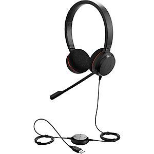 Jabra Evolve 20 - Casque filaire USB - 2 écouteurs - Micro anti-bruit - Noir