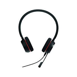 Jabra Evolve 20 UC Stéréo - Casque USB filaire - Noir
