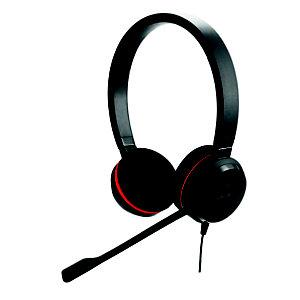 Jabra Evolve 20SE - Casque filaire Stéréo avec micro anti-bruit - Noir