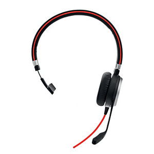 Jabra Evolve 40 MS Mono - Casque Jack et USB-C filaire - Noir